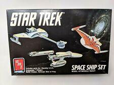 1989 AMT ERTL Star Trek Space Ship Set Model Kit Enterprise Romulan Klingon 6677