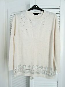 BNWT Ivory Round Neck Longer Length Jumper From Dorothy Perkins Size 18