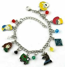 Scooby Doo Cartoon Characters 7 Themed Charms Metal Charm Bracelet