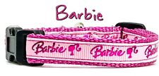 """Barbie cat or small dog collar 1/2""""wide adjustable handmade or leash"""