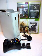 Xbox 360 White - Complete Set up Wireless Controller plus Battery packs 4 games