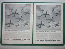 11/1963 PUB BRANIFF AIRWAYS AIRLINES 9 SUPER JETS TO SOUTH AMERICA ORIGINAL AD