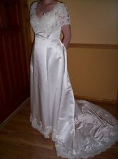 M 12 BRIDE BRIDAL GOWN WEDDING DRESS -BUY WITH FLOWERS GET BONUS ALL UNDER $500