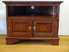 Corner TV Cabinet, Corner Entertainment Unit, Brown,Timber, Corner Unit,Mahogany