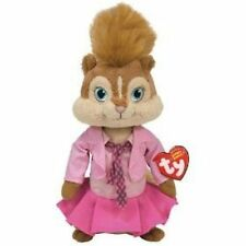 "NWT Ty Alvin And The Chipmunks 7"" Brittany Plush Toy Doll Xmas Squeakquel Pink"