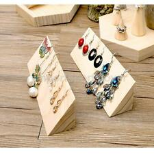 Plain Wooden Jewellery Hook Earrings Jewelry Display Holder Stand Storage