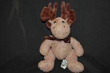 "Dakin Tate  Moose Terry Cloth Brown Plush 10"" Stuffed Animal Lovey  Holiday"