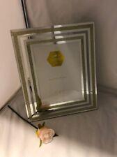 Leonardo Collection Photo Picture Frame Gold 5x7 Inches Glass Glitter Mirrored