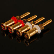 4PCS Copper/Plated Alluvial Gold Speaker/amplifier terminals/connector HIFI DIY