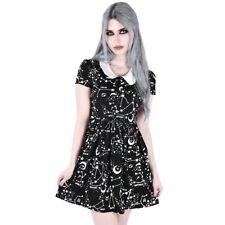 Killstar Gothic Okkult Babydoll Kleid Minikleid - Milky Way Sterne Sternzeichen
