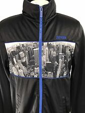 ZOO YORK Full Zip Sweater Sweatshirt | New York Skyline | sz Small | Black Blue