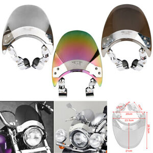Motorcycle Windscreen Windshield For Harley Dyna Sportster XL883 1200 Softail 48