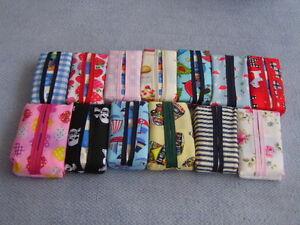 Handcrafted Pocket Tissue Handkerchief Holder Case - Various Fabric Designs