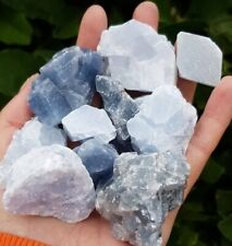 RAW MEXICAN BLUE CALCITE PIECES. 1 PIECE. HEALING CRYSTAL