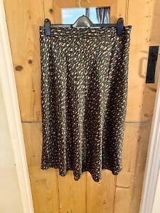Monki Satin Print Midi Skirt Size XL BNWT