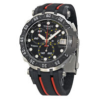 Tissot T-Race Stefan Bradl Black Dial Black and Red Rubber Mens Sports Watch