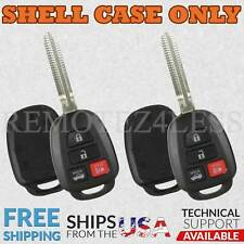 2 For 2014 2015 2016 Toyota Corolla Remote Shell Case Car Key Fob Cover