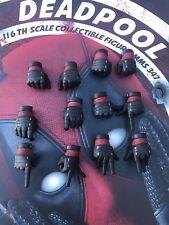 Hot Toys MMS347 Deadpool Gloved Hands Handset Loose 1/6 Batch 2