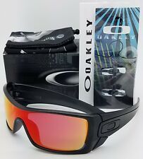 NEW Oakley Batwolf sunglasses Black Ink Ruby Iridium OO9101-38 Bat red AUTHENTIC