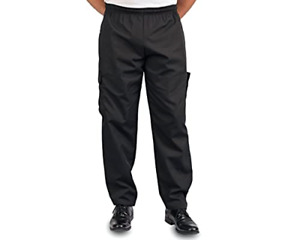 Black Cargo Style Chef Pant, L