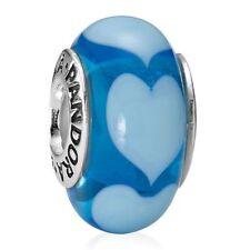 Pandora Murano Charm Lot of 3  Authentic Pandora S925 ALE Stars, Hearts