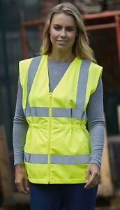 Ladies Viz Visibility Reflective Vest Yoko HVW180 2 Colours Ladies Sizes 8 - 18
