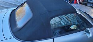 MAZDA MX5 (MK1 / 2 1989 - 2005) BLACK MOHAIR ROOF WITH GLASS SCREEN ON FRAME
