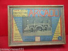 Jolie ancienne boîte de jeu de constructions architecturales, ARCADO, GARNIER