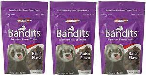 Marshall Bandits Premium Original Raisin Flavor Ferret Treats 3 oz. 3-Pack