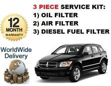 FOR DODGE CALIBER 2.0DT 2006-> SERVICE KIT OIL AIR , DIESEL FUEL (3) FILTER KIT