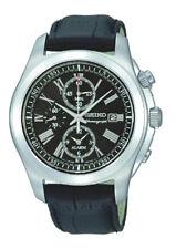 SEIKO Alarm Chronograph SNAE31 SNAE31P2 Men Roman Sapphire 100m Watch