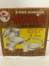 VTG Seaway Camping Cook Set Mess Kit #7195 Extra Heavy Duty Aluminum- 5 PIECE