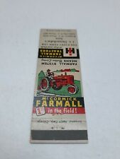 New ListingMcCormick Farmall International Harvester Tractor Matchbook 1st in the Field!