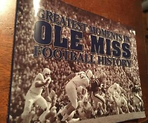Greatest Moments in OLE MISS Football History Signed By Coach David Cutcliffe