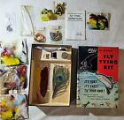 Vintage H J Noll Fly Tying Kit No. 20 Special Fishing Goose Peacock Duck SEALED