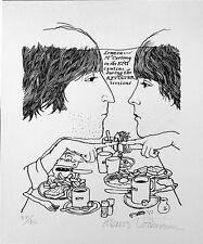 REVOLVER Klaus Voormann THE BEATLES Signed serigraph John Lennon PAUL MCCARTNEY