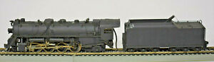 METAL/BRASS HO SCALE 2-8-2 MIKADO ENGINE AND TENDER NOT RUNNING PARTS OR PROJECT