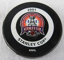2001 New Jersey Devils vs Colorado Avalanche Official Stanley Cup Puck Un-Used