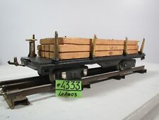 VINTAGE CLASSIC LIONEL LINES #511 BLACK LUMBER TRAIN CAR STANDARD GAUGE Wood Car