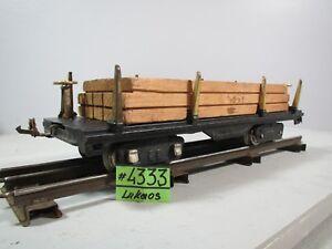 VINTAGE CLASSIC LIONEL LINES #511 BLACK LUMBER TRAIN CAR STANDARD GAUGE Wood Car
