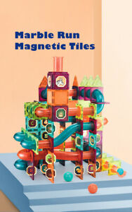 Magnetic Tiles Marble Run 101PCS 172PCS 261PCS Toy Set Gift Present Kid Children