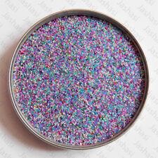 50g Mixed Micro Caviar Glass Ball Beads No Hole 0.5mm Jewellery Making (056)