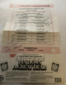 WWF Wrestling program 10/26/85 Bruno Sammartino vs Rowdy Roddy Piper
