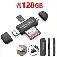 New Micro USB OTG to USB 2.0 Adapter SD TF Micro Card Reader For PC Mobile Phone