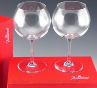 """Baccarat France Crystal 7.5"""" DEGUSTATION ROMANEE CONTI WINE GLASSES PAIR in Box"""