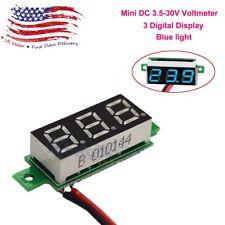 NEW DC 3.5-30V Voltmeter LED Panel 3-Digital Voltage Meter 2-wire  US STOCK