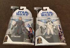 Star Wars Black Series 6in Set Clone Wars Target Exclusive Hawk Anakin
