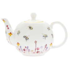 Busy Bees Tea Pot Floral and Bess Fine China Teapot