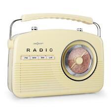 1950'S VINTAGE Portable Radio FM SYSTÈME SONORE rétro crème jaune UK