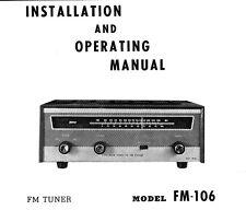 TRIO FM TUNER MODEL FM-106 manual